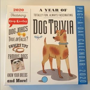 A Year of Dog Trivia 2020 daily desk calendar